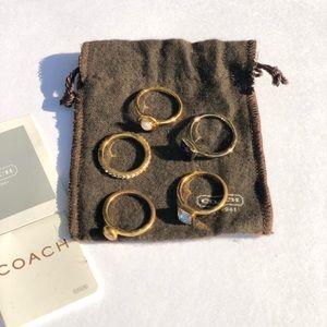Coach ring set of 5